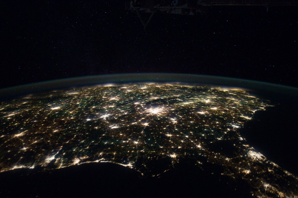 Charlotte (and the Southeast) from the ISS, via NASA's Marshall Space Flight Center