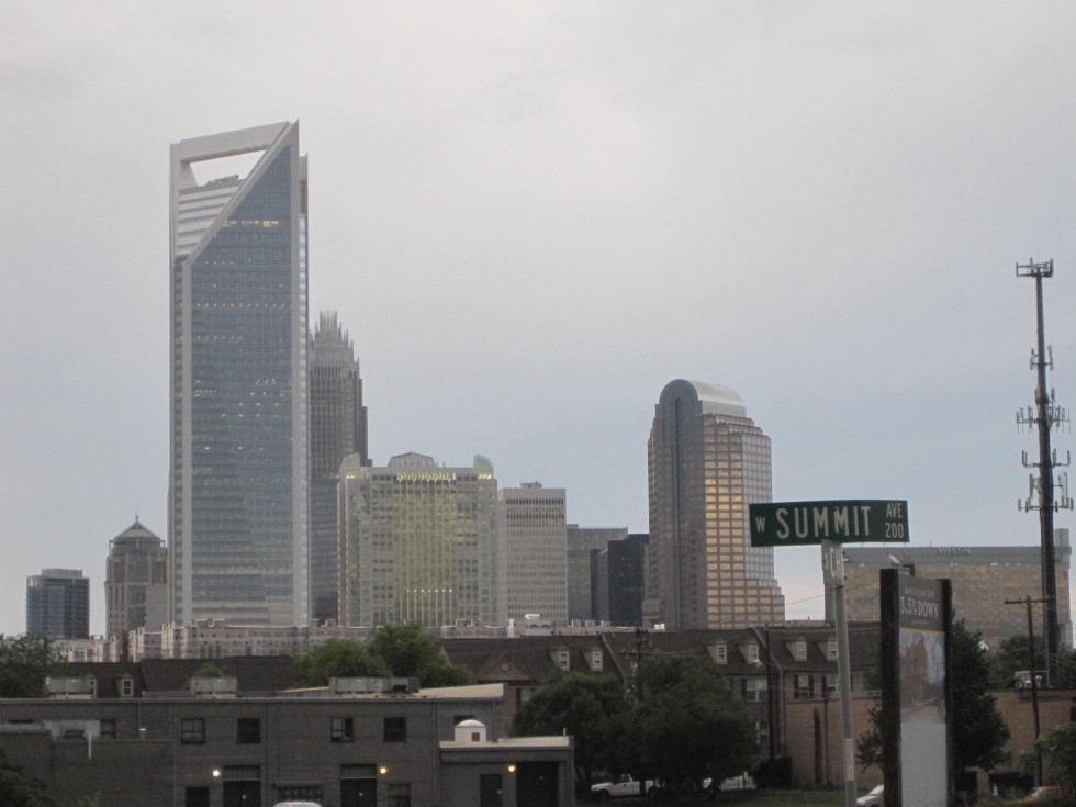 Uptown Charlotte skyline from South End